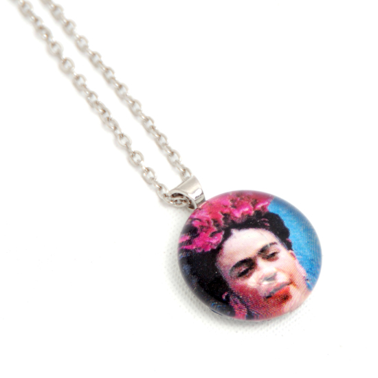 Necklace Frida Kahlo 'No5' Glass