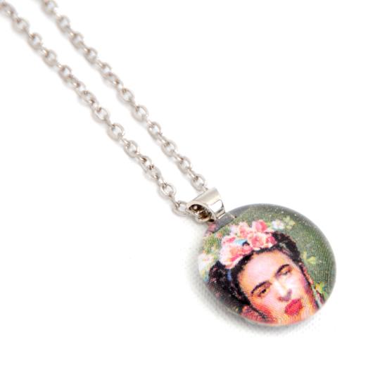 Necklace Frida Kahlo 'No6' Glass