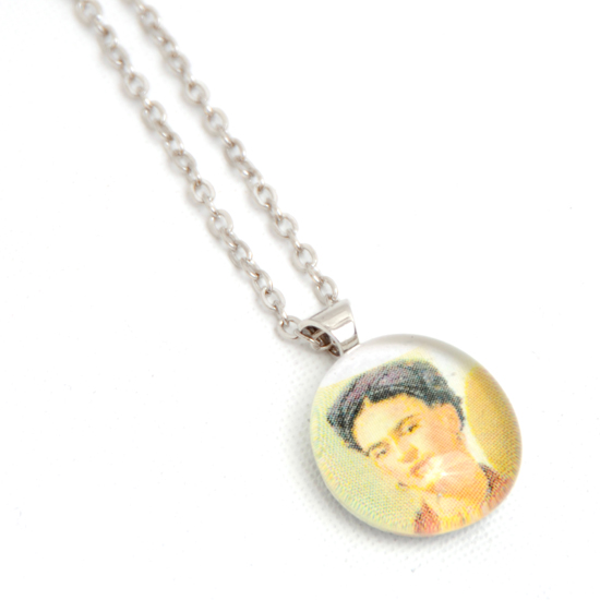 Necklace Frida Kahlo 'No7' Glass