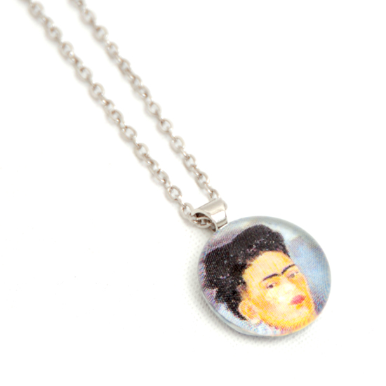 Necklace Frida Kahlo 'No9' Glass
