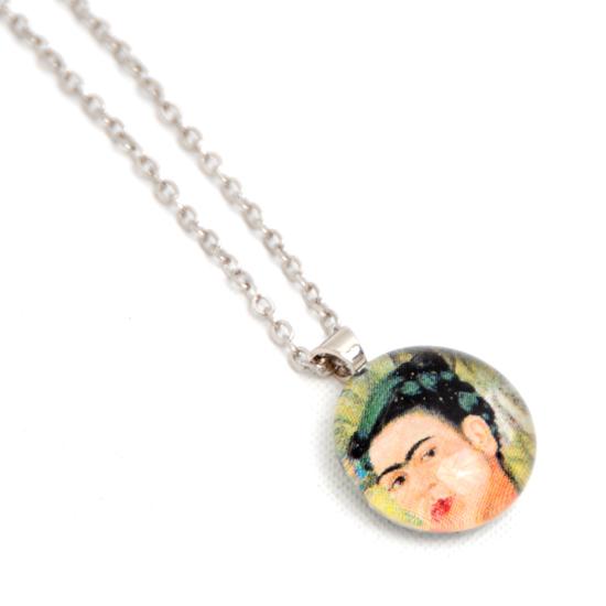 Necklace Frida Kahlo 'No11' Glass