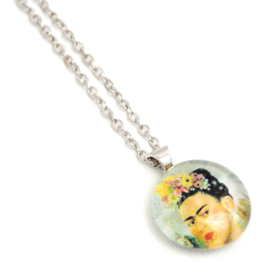Necklace Frida Kahlo 'No12' Glass