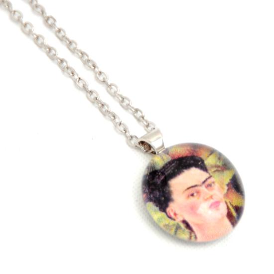 Halsband Frida Kahlo 'No14' Glas