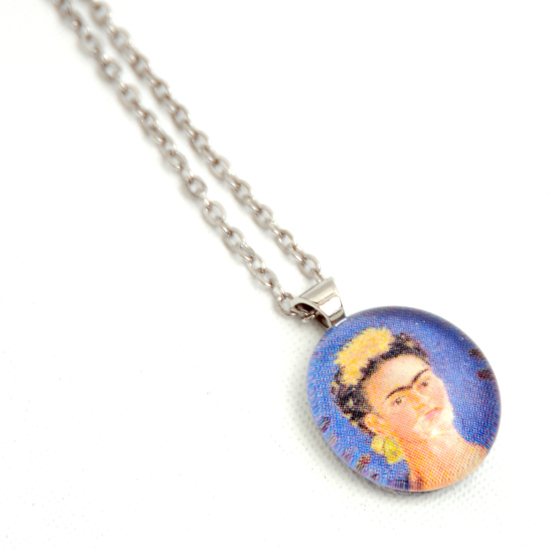 Necklace Frida Kahlo 'No13' Glass