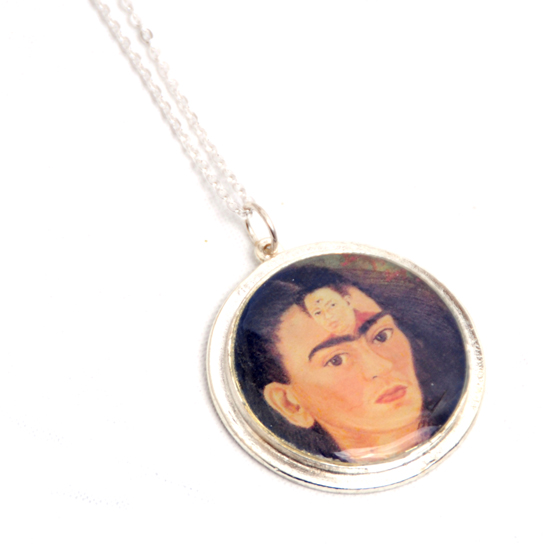 Necklace Frida Kahlo Circle Big