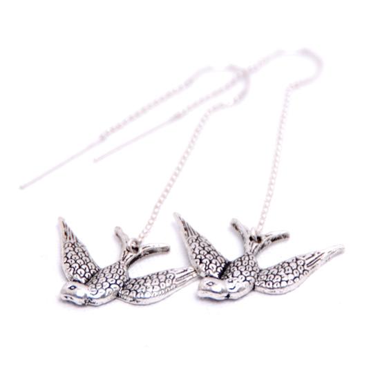 Earrings Swallow (diving)