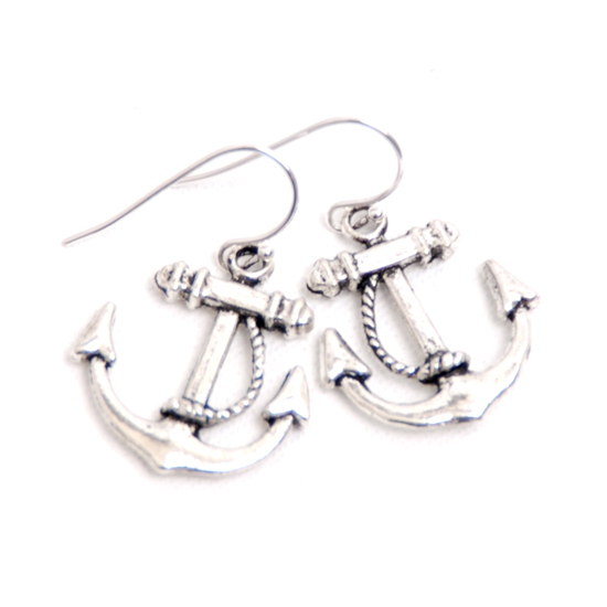 Earrings Anchor (silver)