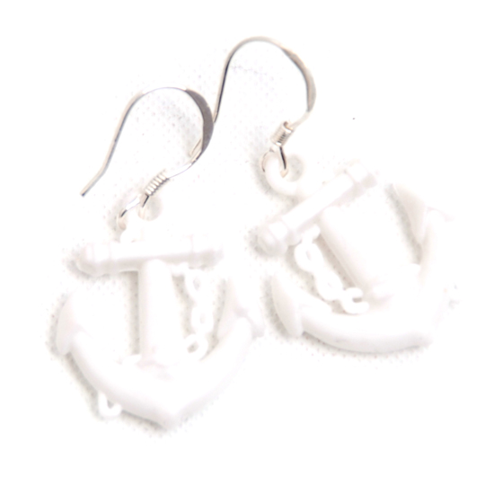 Earrings Sailor (white small)