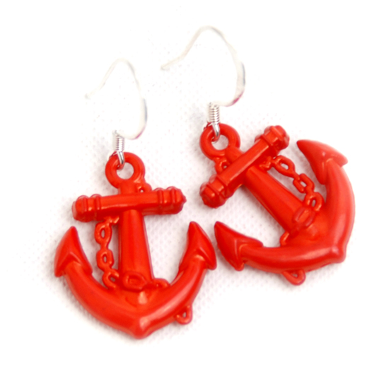 Earrings Sailor (red small)