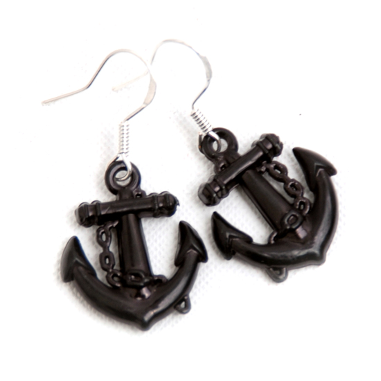 Earrings Sailor (black small)