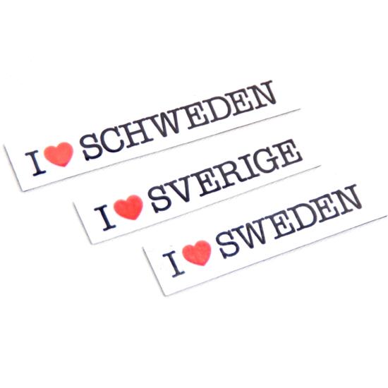 Magnet I ♥ Sverige