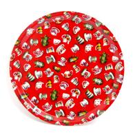 Pyöreä Tarjotin 31 cm Teaparty (punainen)