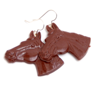 Earrings Horse (brown)