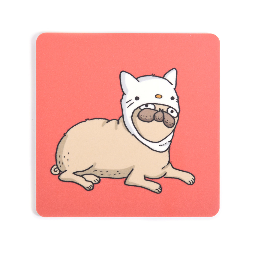 Coaster Lilla Berlin Pug-kitty