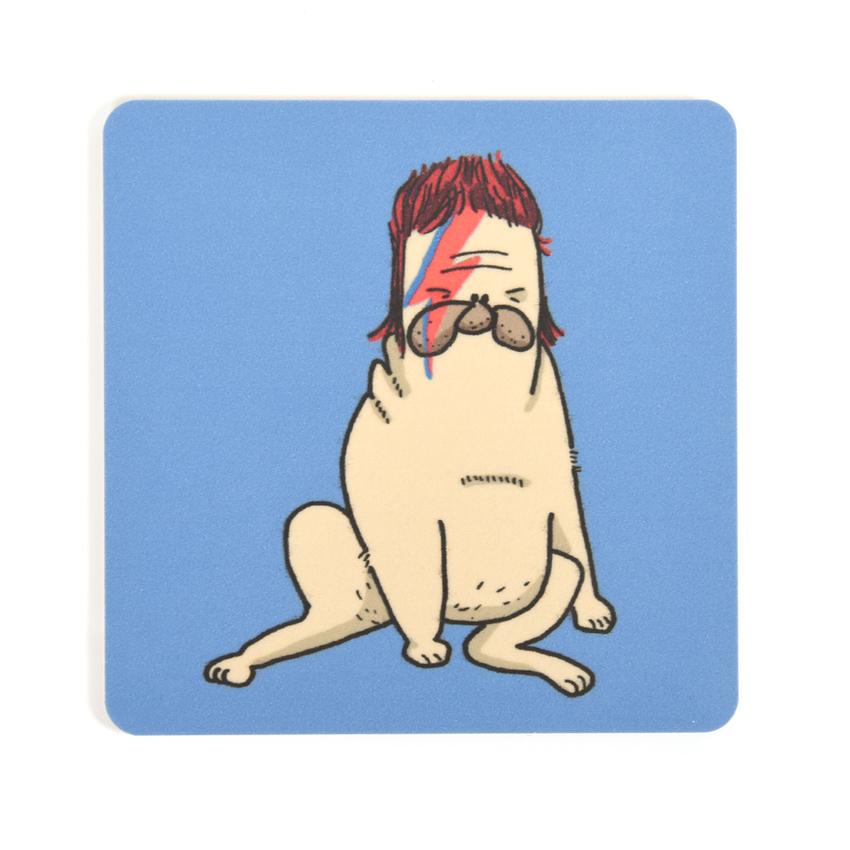 Coaster Lilla Berlin Pug-bowie