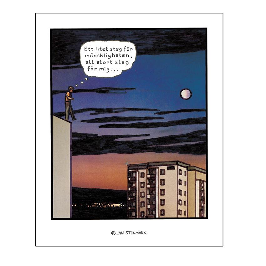 Affisch Jan Stenmark 'Litet steg' liten 24x30 cm