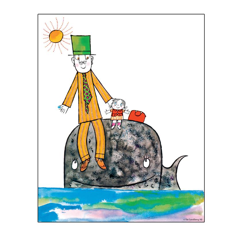 Affisch Lilla Anna 24x30 cm