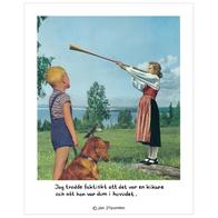 """Poster Jan Stenmark """"Kikare"""" small 24x30 cm"""