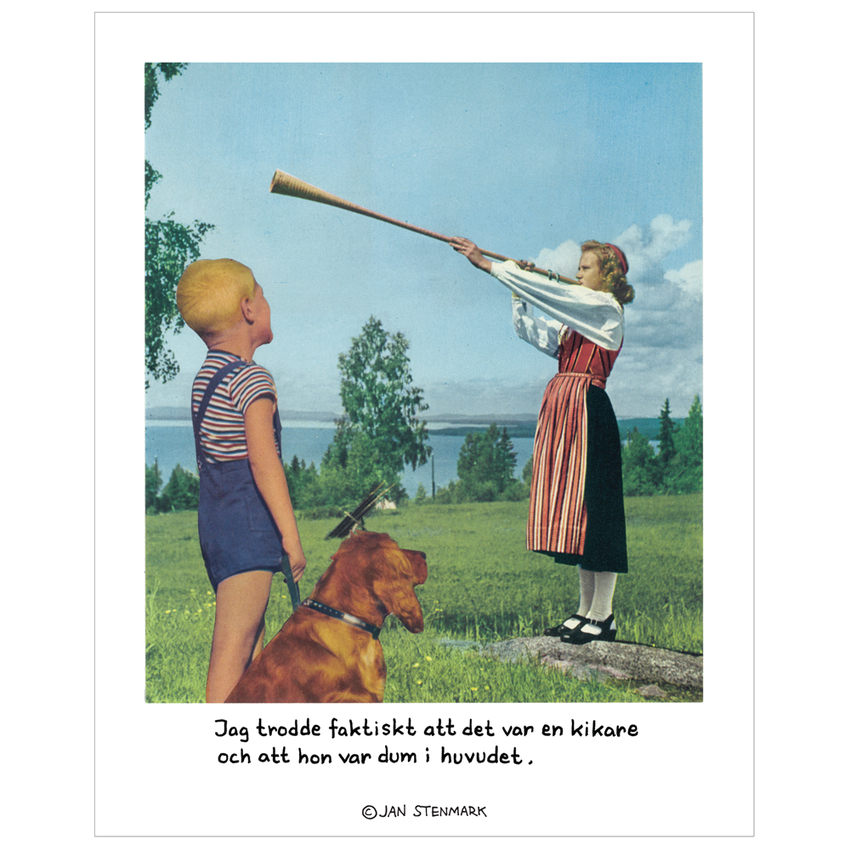 Affisch Jan Stenmark 'Kikare' liten 24x30 cm