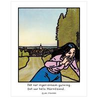 """Affisch Jan Stenmark """"Härnösand"""" pieni 24x30 cm"""