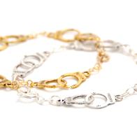 Rannekoru Käsiraudat (hopea & kulta)
