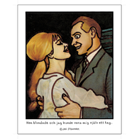 "Poster Jan Stenmark ""Blundade"" small 24x30 cm"