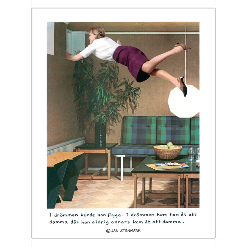 "Poster Jan Stenmark ""Damma"" small 24x30 cm"