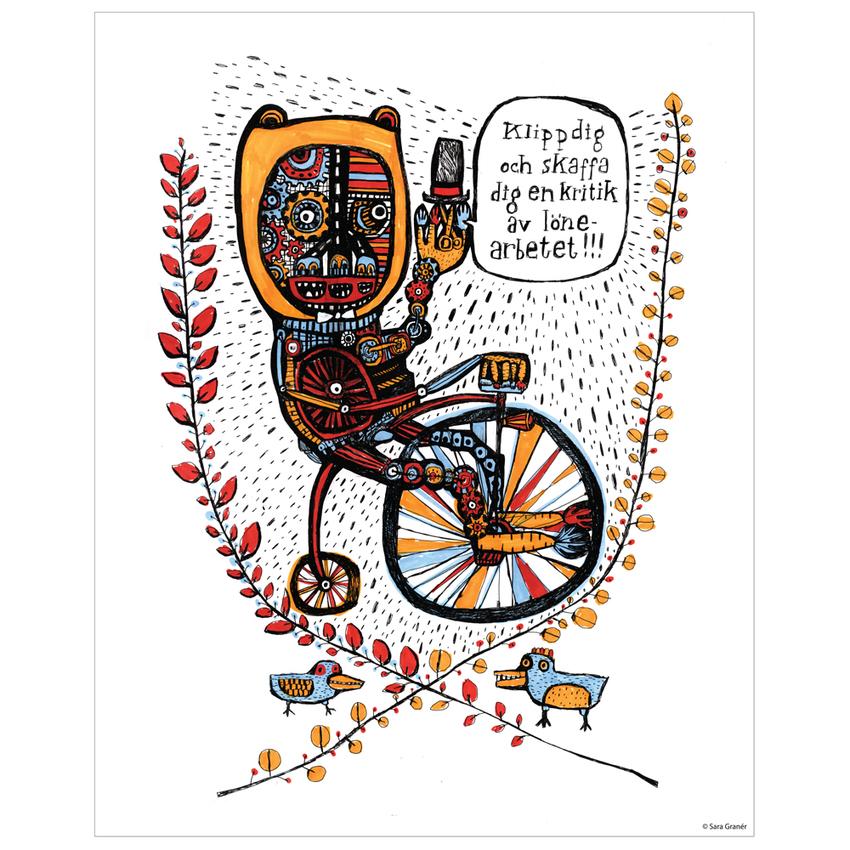 """Affisch Sara Granér 24x30 """"Lönearbete"""""""