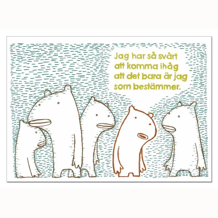 """Affisch Sara Elgeholm """"Bestämmer"""" A3"""