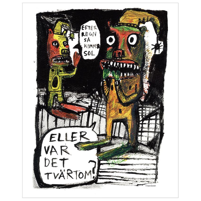 """Affisch Sara Granér 24x30 """"Regn"""""""