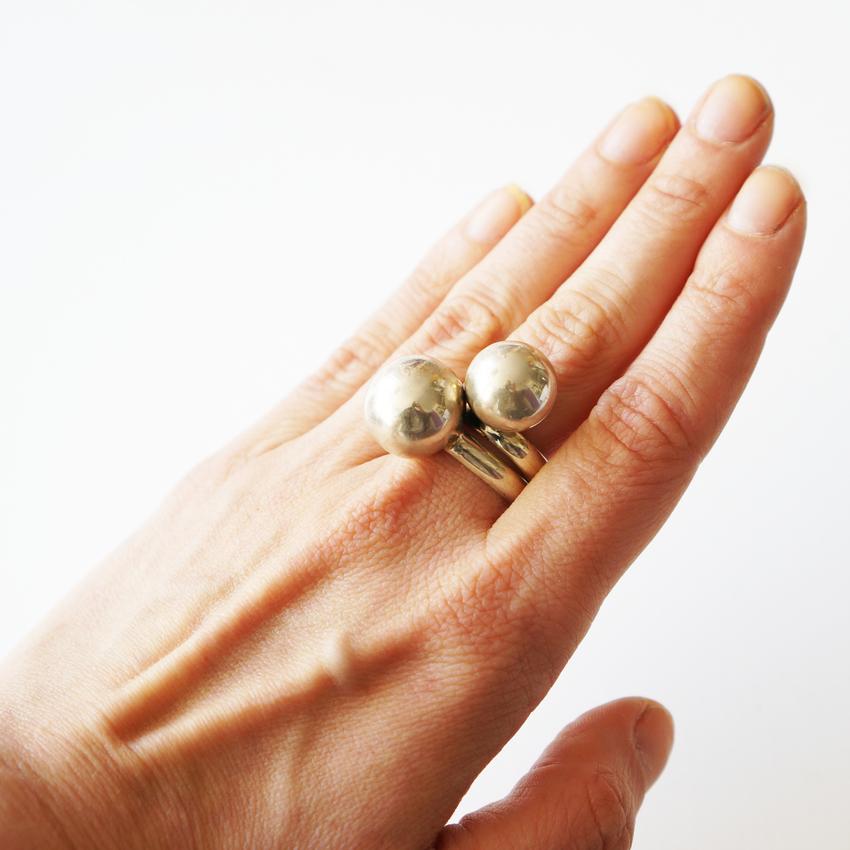 Ring Balls, Sterling silver