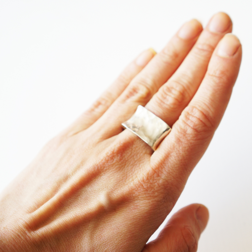 Ring Square, Sterling silver