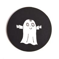 Glasunderlägg Spöket Laban (Labolina svart)