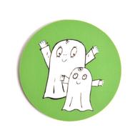 Glasunderlägg Spöket Laban båda (grön)
