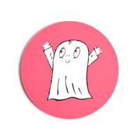 Glasunderlägg Spöket Laban (rosa)