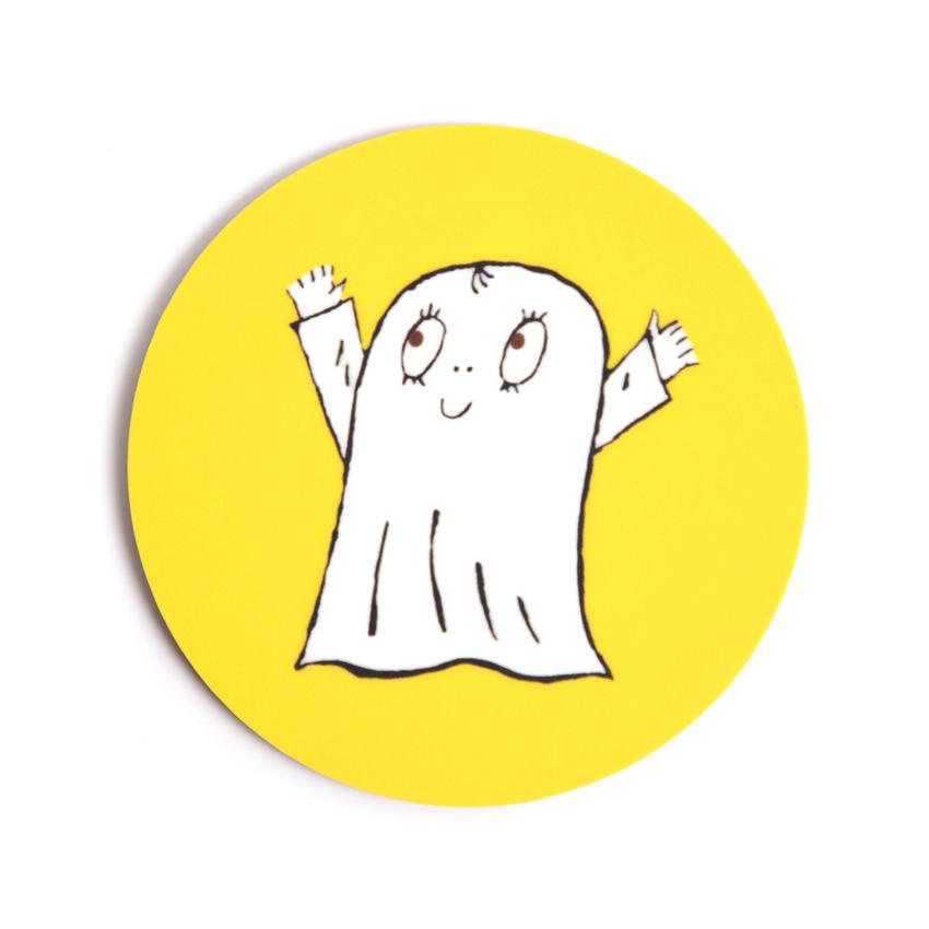 Glasunderlägg Spöket Laban (gul)