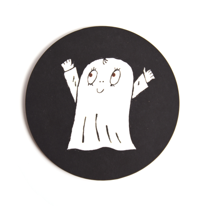 Glasunderlägg Spöket Laban (svart)