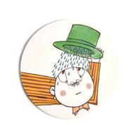 Glasunderlägg Långa Farbrorn (regn)