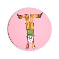 Coaster Långa Farbrorn (pink)