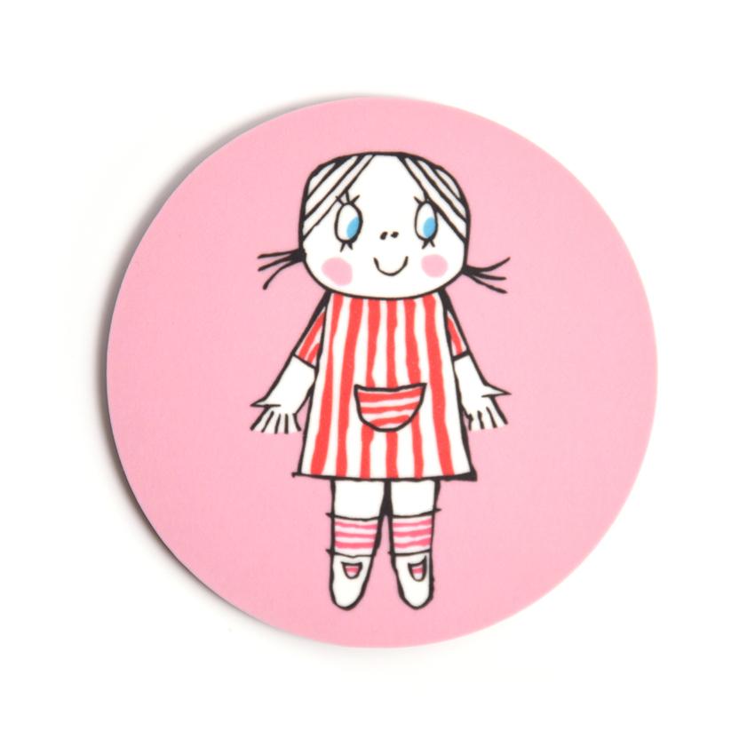 Lasinalunen Lilla Anna (vaaleanpunainen)