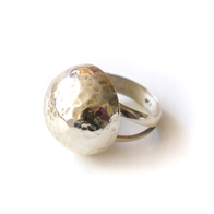 Ring Rund Hamrad, Sterling silver