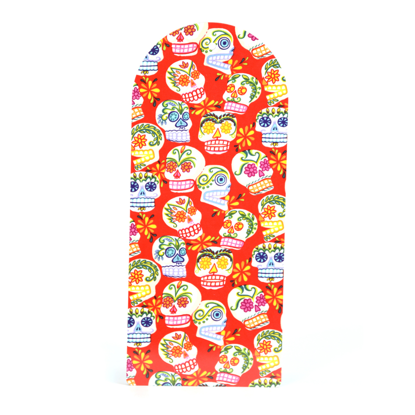 Cutting Board Sugar skulls (red)