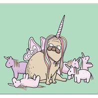 Poster Lilla Berlin unicorn 24x30 cm