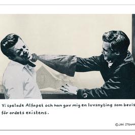 Affisch Jan Stenmark 'Luvsnyting' liten 24x30 cm