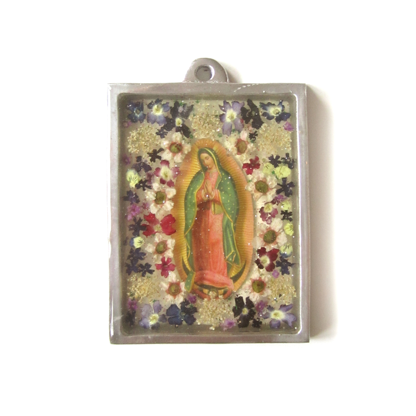 Väggprydnad glas Guadalupe