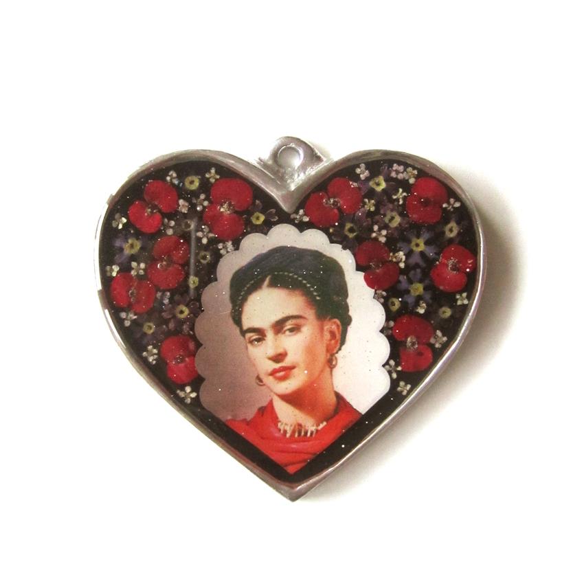 Seinä ornamentti glass heart Frida Kahlo