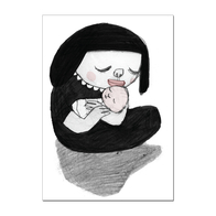 "Postcard Nina Hemmingsson ""Mother and child"""