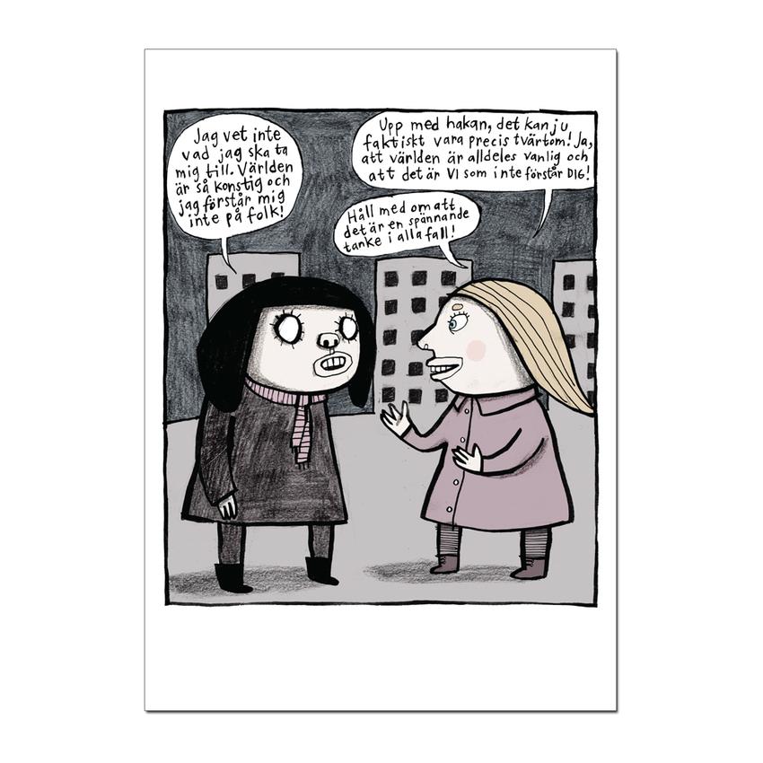 """Vykort Nina Hemmingsson """"Konstig"""""""