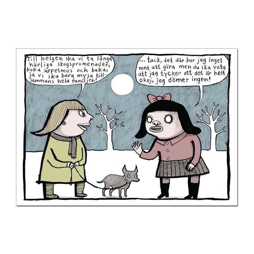 """Postcard Nina Hemmingsson """"Till helgen"""""""