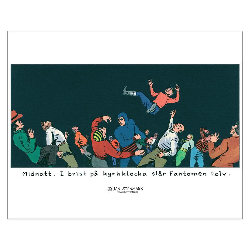 """Affisch Jan Stenmark """"Fantomen"""" pieni 24x30 cm"""